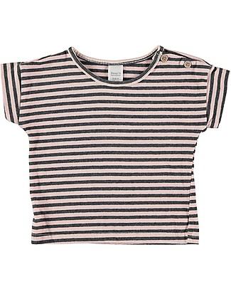 Bean's Barcelona T-Shirt Bimba a Righe Alicante, Rosa - Cotone bio T-Shirt e Canotte