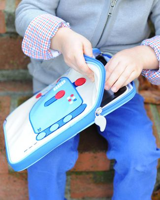 Beatrix NY Custodia per iPad Pixel Il Robot - Resistente all'acqua e imbottita Porta Tablet