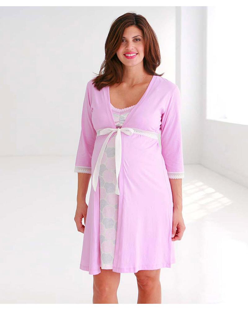 vendita calda online 13955 dfe57 Belabumbum Mum Vestaglia Premaman e Allattamento - Rosa donna