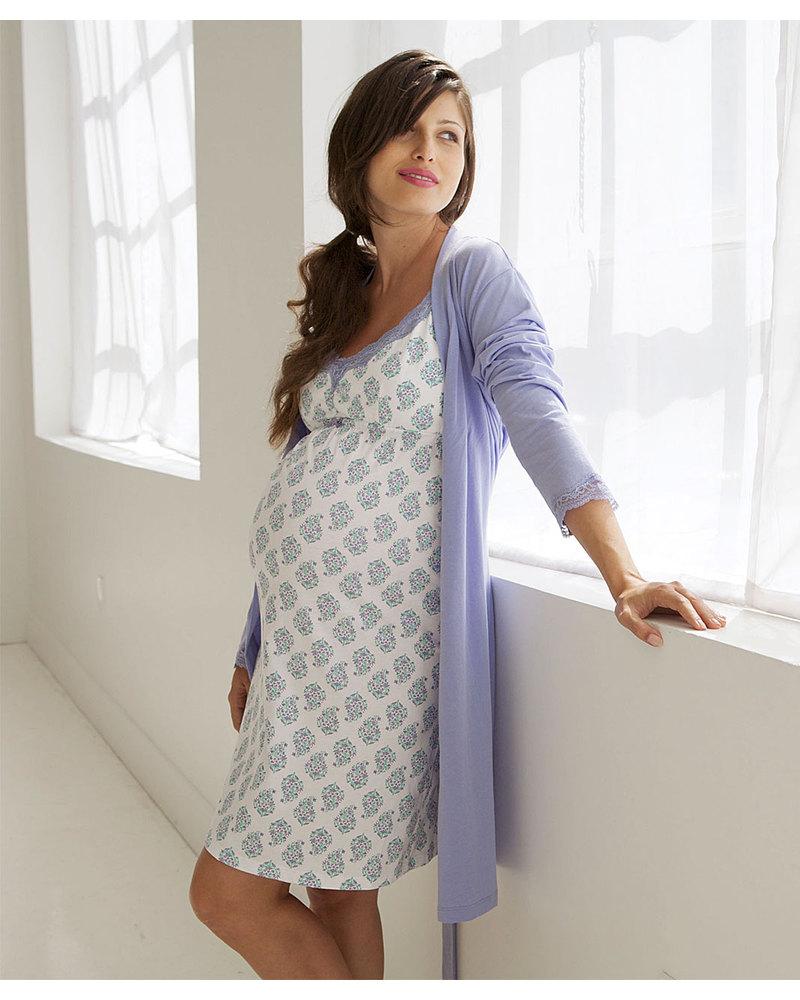 vendita calda online 97c45 22247 Belabumbum Violette Camicia da Notte Premaman e Allattamento ...