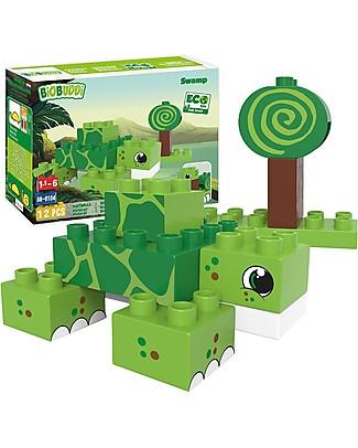 BioBuddi Costruzioni Eco-friendly Natura, Palude - 12 mattoncini Mattoncini da costruzione