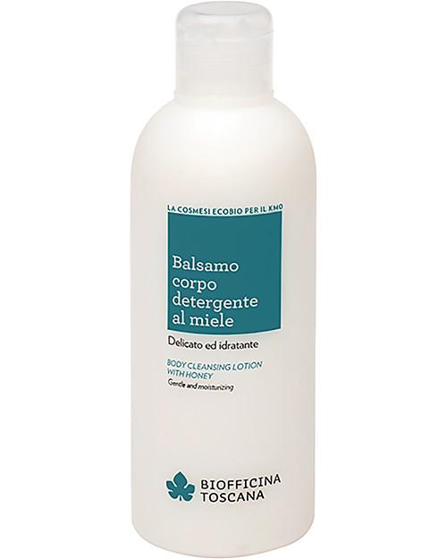 Biofficina Toscana Balsamo Corpo Detergente al Miele, 200 ml -  Delicato e idratante Creme e Olii