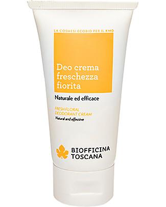 Biofficina Toscana Deo Crema Freschezza Fiorita, 50 ml - Naturale ed efficace Deodoranti