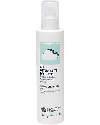 Biofficina Toscana Gel Detergente Delicato Corpo e Capelli, 200 ml - Con olio di oliva bio Bagno Doccia Shampoo
