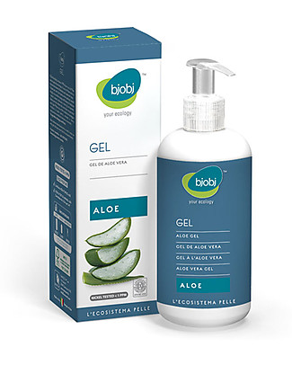 Bjobj bjobi Gel Succo di Aloe vera 97% - 250 ml con dispenser Solari