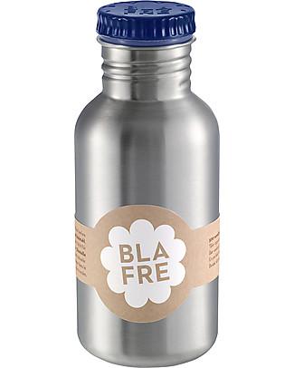 Blafre Borraccia in Acciaio Inox 500 ml, Blu Notte - Senza BPA né ftalati! Borracce Metallo
