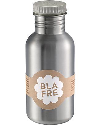 Blafre Borraccia in Acciaio Inox 500 ml, Grigio - Senza BPA né ftalati! Borracce Metallo