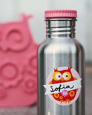 Blafre Borraccia in Acciaio Inox 500 ml, Rosa - Senza BPA né ftalati! Borracce Metallo