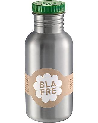 Blafre Borraccia in Acciaio Inox 500 ml, Verde - Senza BPA né ftalati! Borracce Metallo