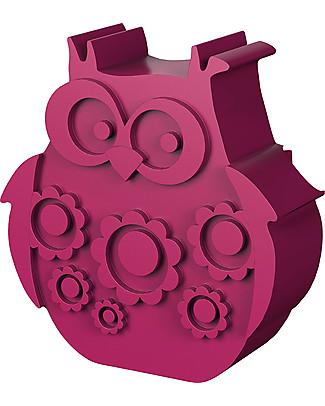 Blafre Porta Pranzo 2 Scomparti, Gufetto 25 x 17,5 x 6,5 cm- Senza BPA o ftalati Contenitori Latte e Snack