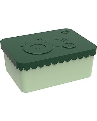 Blafre Porta Pranzo Trattore 14 x 10 x 6 cm - Senza BPA o ftalati Contenitori in Metallo