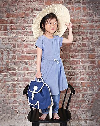 Blafre Zainetto Bimbi 25 x 26 x 25,5 cm, Blu - Impermeabile, inserti in pelle Zainetti