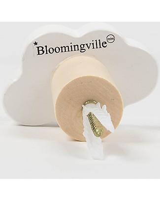 Bloomingville Gancio Appendiabiti, Nuvola Bianca - MDF Appendiabiti e Grucce