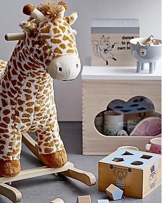 Bloomingville Giraffa a Dondolo, Multicolor - Legno di Pioppo Cavalcabili