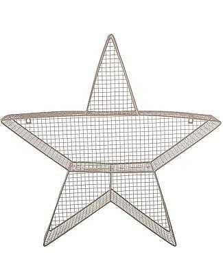 Bloomingville Scaffale da Parete in Metallo, Stella - 63x13x62 cm Mensole