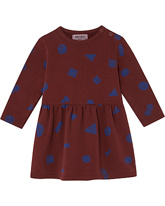 Bobo Choses Abito Bimba Morbido, All Over Stuff - Cotone Bio Vestiti