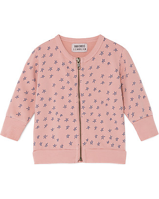 Bobo Choses Felpa con Zip, All Over Stars - 100% Cotone bio Felpe