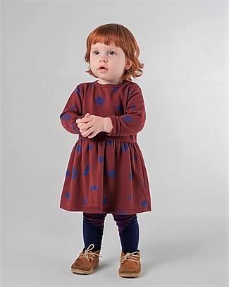Bobo Choses Fleece Dress, All Over Stuff - Organic Cotton Dresses