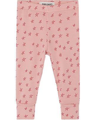 Bobo Choses Leggings Bimba, All Over Stars - Cotone bio Elasticizzato Leggings