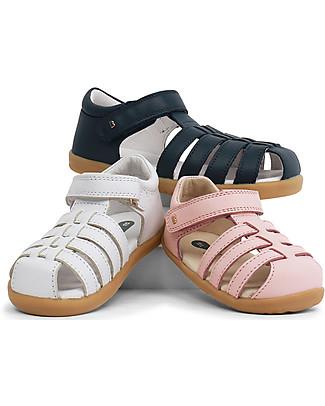 Bobux Sandalino I-Walk Jump Ragnetto, Bianco - Suola super flessibile! Scarpe