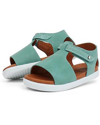 Bobux Sandalino I-Walk Mirror, Verde Acqua - Suola super flessibile! Scarpe