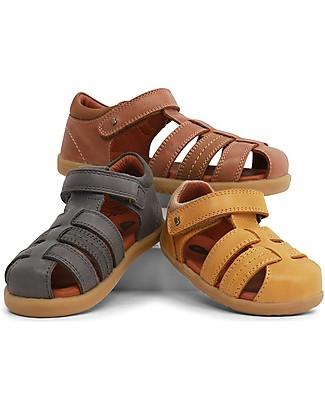 Bobux Sandalino I-Walk Roam Ragnetto, Charcoal - Suola super flessibile! Scarpe