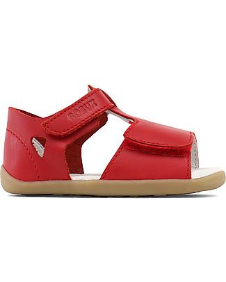 Bobux Sandalino Step-Up Classic Mirror, Rosso- Super flessibile, perfetto per i primi passi! Scarpe