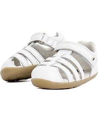 Bobux Sandalino Step-Up Jump, Bianco – Super flessibile, perfetto per i primi passi! Scarpe