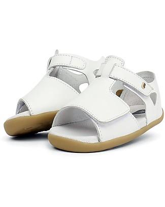 Bobux Sandalino Step-Up Mirror, Bianco - Super flessibile, perfetto per i primi passi! Scarpe