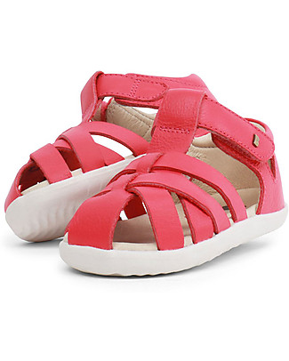 Bobux Sandalino Step-Up Tropicana Ragnetto, Corallo - Super flessibile, perfetto per i primi passi! Scarpe