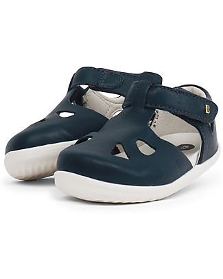 Bobux Sandalino Step-Up Zap, Blu Navy - Super flessibile, perfetto per i primi passi! Scarpe