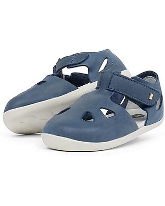 Bobux Sandalino Step-Up Zap, Jeans – Super flessibile, perfetto per i primi passi! Scarpe