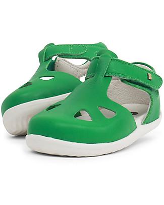 Bobux Sandalino Step-Up Zap, Verde Smeraldo - Super flessibile, perfetto per i primi passi! Scarpe