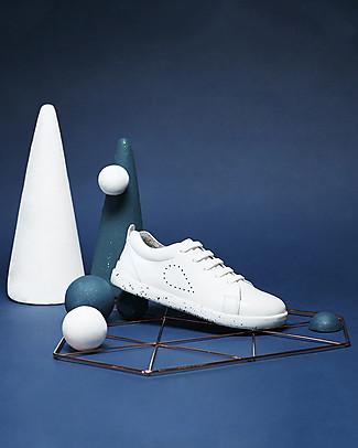 Bobux Scarpa Kid Grass Court, Bianco- Suola super flessibile! Scarpe