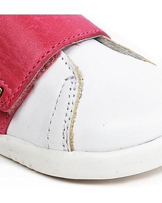Bobux Scarpina I-Walk Boston Trainer, Bianco/Rosa - Per Ogni Occasione! Scarpe