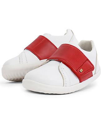 Bobux Scarpina I-Walk Boston Trainer, Bianco/Rosso – Per Ogni Occasione! Scarpe