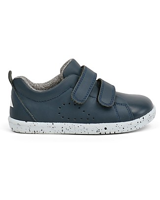 Bobux Scarpina I-Walk Grass Court, Navy - Suola super flessibile! Scarpe