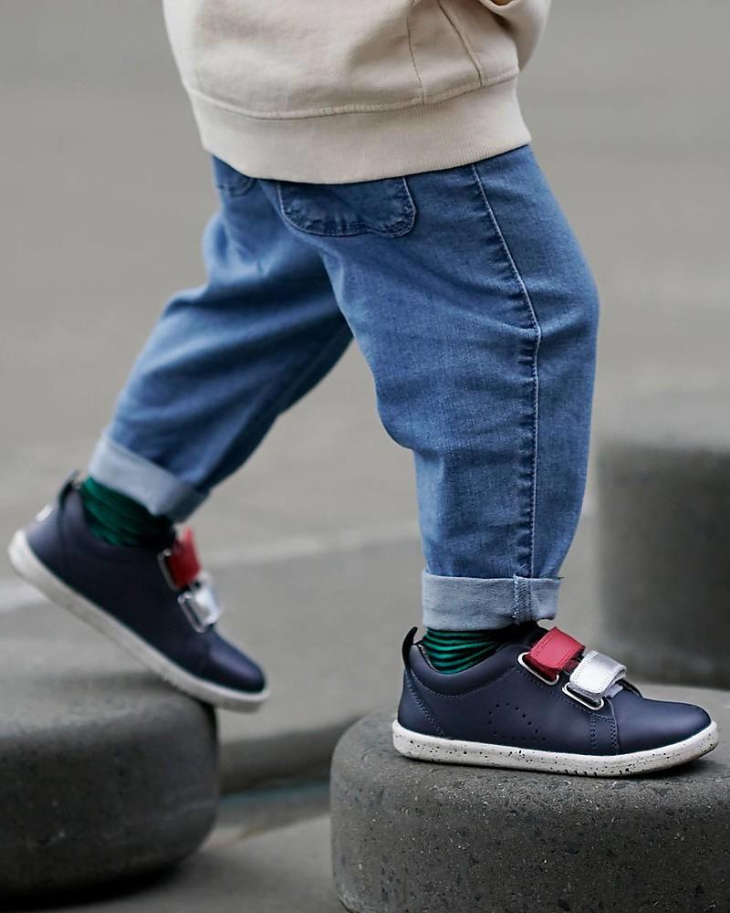 Scarpe da passeggio in pelle per beb/è Bobux con chiusure automatiche intercambiabili Bobux I-Walk Grass Court Switch