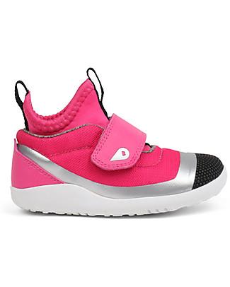 Bobux Scarpina I-Walk Hi Dimension, Fucsia/Argento - Super confort per piedini sempre attivi! Scarpe
