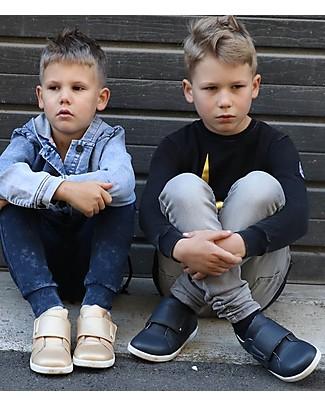 Bobux Scarpina Kid Boston Trainer, Blu Navy – Per Bambini Grandi! Scarpe