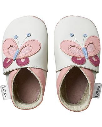 Bobux Scarpina Soft Sole, Bianca con Farfallina - La cosa migliore dopo i piedi scalzi! Scarpe