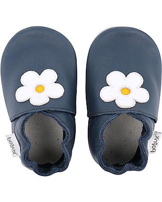 Bobux Scarpina Soft Sole, Blu con Margherita - La cosa migliore dopo i piedi scalzi! Scarpe