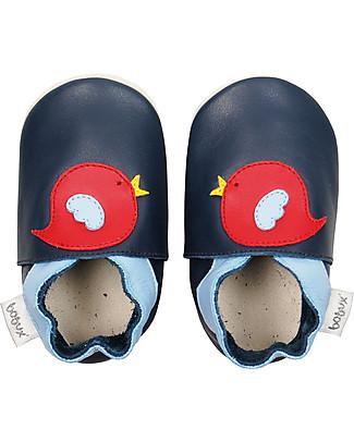 Bobux Scarpina Soft Sole, Blu con Uccellino - La cosa migliore dopo i piedi scalzi! Scarpe