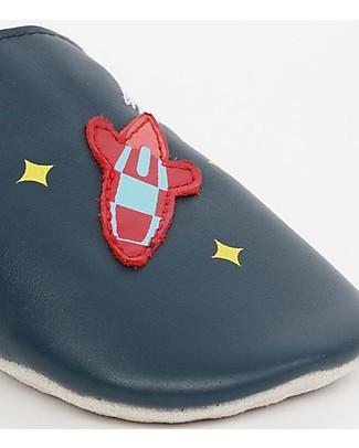 Bobux Scarpina Soft Sole, Blu Navy con Razzo - La cosa migliore dopo i piedi scalzi! Scarpe