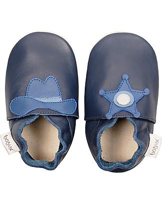 Bobux Scarpina Soft Sole, Blu Sceriffo - La cosa migliore dopo i piedi scalzi! Scarpe