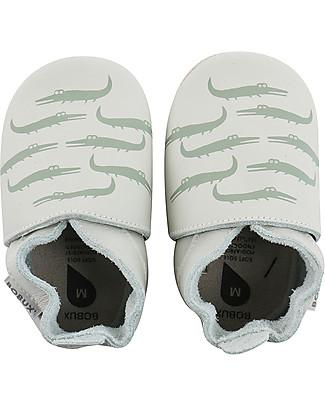 Bobux Scarpina Soft Sole Coccodrilli Verde-menta – La cosa migliore dopo i piedi scalzi! Scarpe
