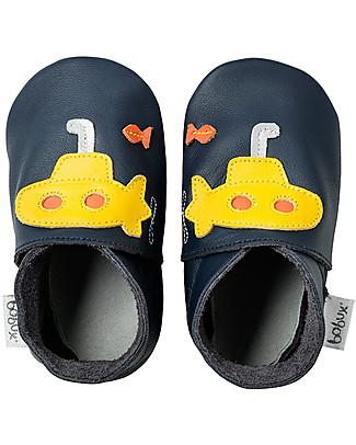 Bobux Scarpina Soft Sole Grande (2-5 anni), Sottomarino Blu - La cosa migliore dopo i piedi scalzi! Scarpe