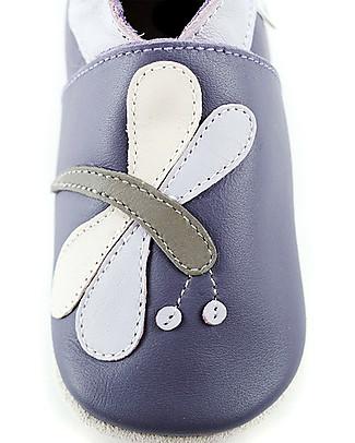 Bobux Scarpina Soft Sole, Libellula Viola - La cosa migliore dopo i piedi scalzi! Scarpe