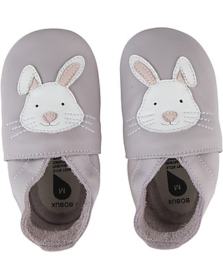 Bobux Scarpina Soft Sole, Lilla con Coniglietto - La cosa migliore dopo i piedi scalzi!  null
