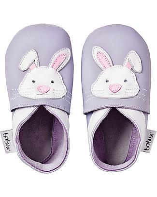 Bobux Scarpina Soft Sole, Lilla con Coniglietto - La cosa migliore dopo i piedi scalzi!  Scarpe